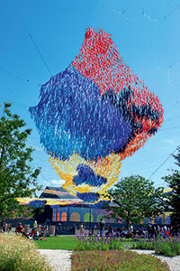 Wow!-Installation im Kulturpark »New Holland«.