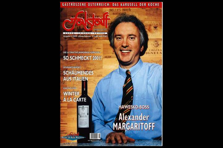 Margaritoff, 2001 am Falstaff-Cover