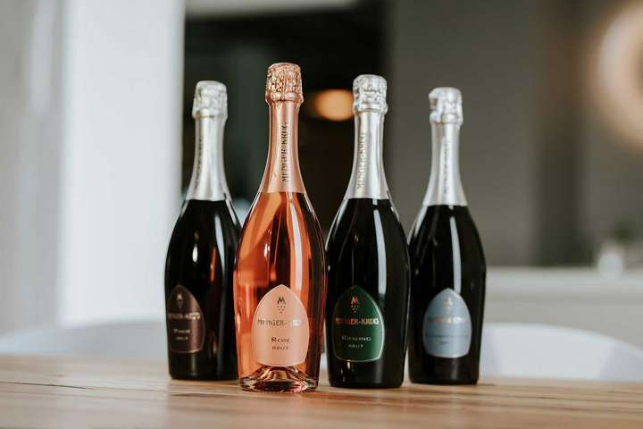 Premium-Cuvées in Brut: Pinot, Rosé, Riesling und Chardonnay.