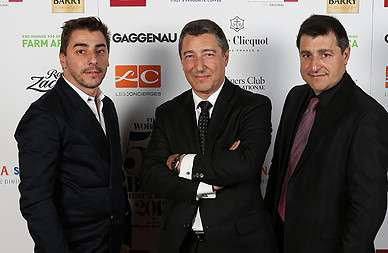 Die siegreichen Brüder Jordi, Joan und Josep Roca vom »Celler de Can Roca« in Girona © Worlds 50 Best Restaurants sponsored by S.Pellegrino & Acqua Panna