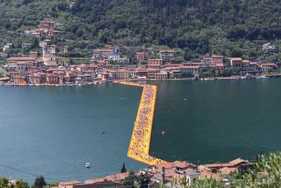 Floating Piers – Kunstinstallation von Christo
